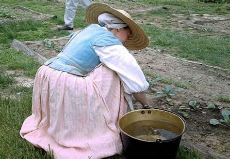 Website Graphics - Indentured servant gardening