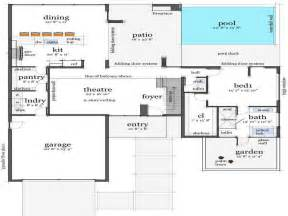 House Floorplans Ideas House Floor Plans Design With Folding Door System House Floor Plans Design