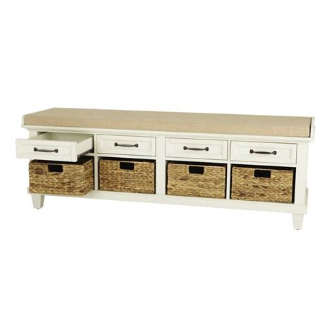 home depot shoe bench home decorators collection martin ivory shoe storage bench