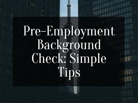 Pre Employment Background Check Taking Pre Employment Background Check Simple Tips Authorstream