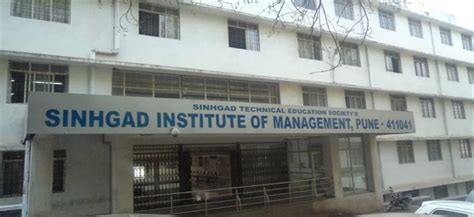Chetna College Mba Cut by Sinhgad Institute Of Management Pune Courses And Fees