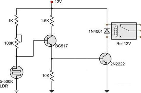 photoresistor transistor switch image gallery ldr circuit