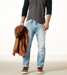 American Eagle Light Grey Original hilfiger men s shirt our vintage fit shirt in an