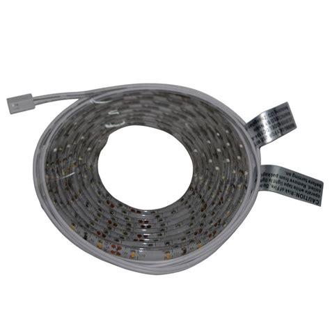 commercial electric led tape light connectors commercial electric 8 ft indoor led warm white tape light