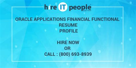 oracle applications financial functional resume profile