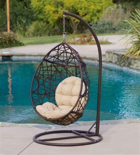 egg shaped outdoor swing chair 301 moved permanently