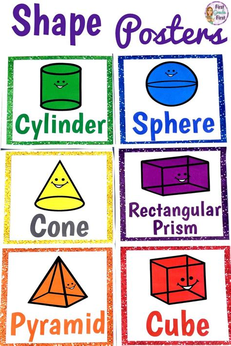 printable 3d shapes poster shape posters shape posters 3d shapes and 2d