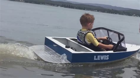 kinds of boats kids mini ski boat on the lake mart whyte youtube