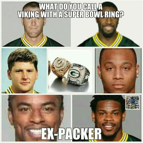 Funny Green Bay Packers Memes - packers vikings funny bing images funny pinterest