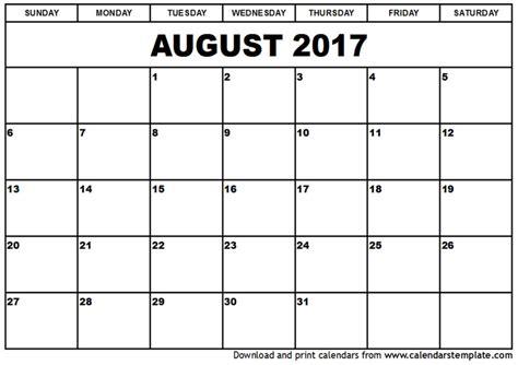 printable calendar aug 2017 august calendar 2017 printable