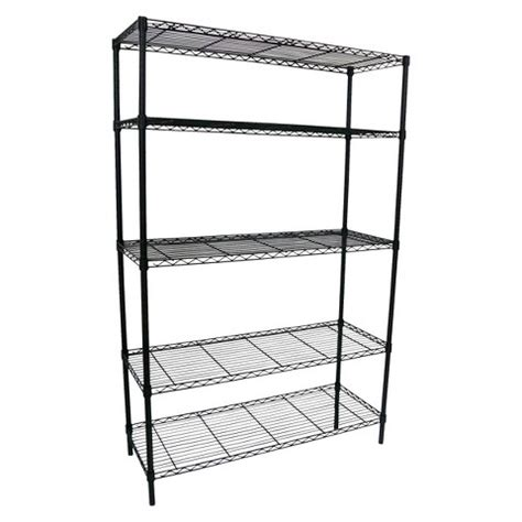 adjustable 5 tier wire wide shelving unit blac target
