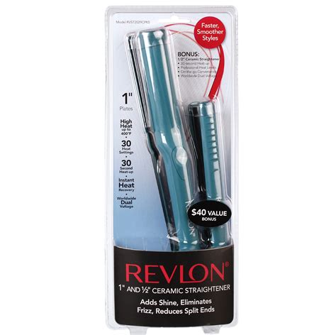 Catok Revlon Pro Ceramic Straightener upc 761318220299 revlon flat irons 1 in and 1 2 in