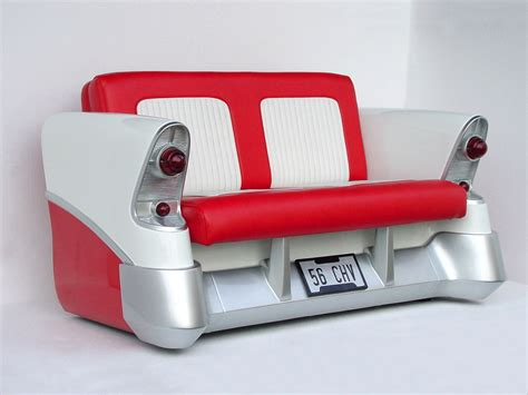cool couches stylish retro classic red and white seater with old cars