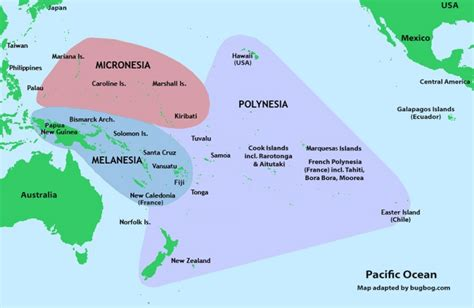 map of polynesia south pacific map including polynesia hawaii australia
