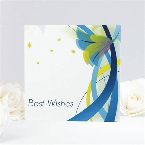 Wedding Wishes Card Design by Floral Best Wishes Card By Munchkin Creative