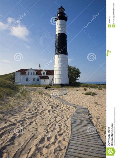 bid stock big point lighthouse stock image image of station