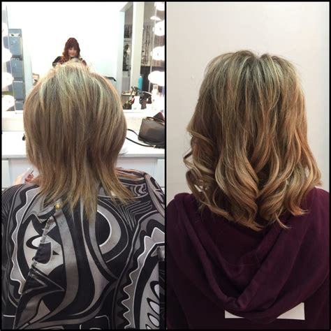 getting fullness on the hair crown before and after added hot heads hair extensions to add