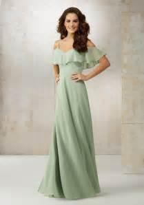 wedding dresses and bridesmaid dresses chiffon the shoulder bridesmaids dress style 21509