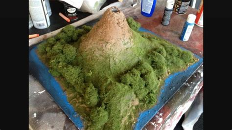 How To Make A Model Volcano Out Of Paper - how to make a clay volcano 13 steps with pictures wikihow