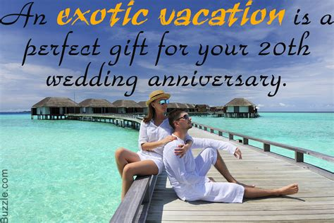 20th Wedding Anniversary Vacation Ideas by Adorably Surprising Gift Ideas For Your 20th Wedding