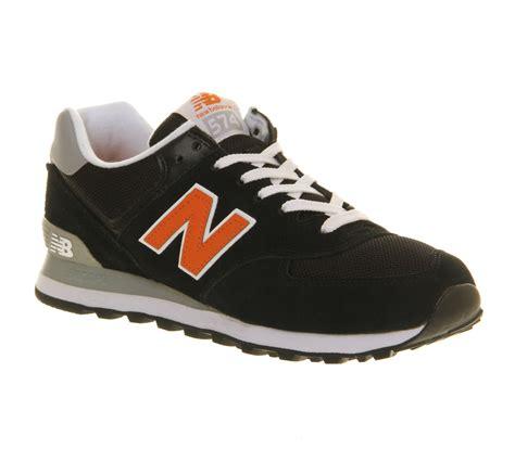 New Balance Black And Orance mens new balance new balance m574 black orange trainers shoes