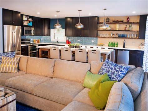 contemporary open living space  tan sectional sofa hgtv