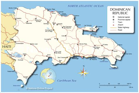 Map dominican