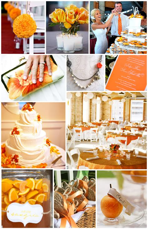 orange and silver wedding color inspiration