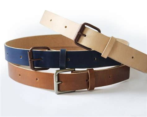 Handmade Belt - mens handmade veg leather belt basader