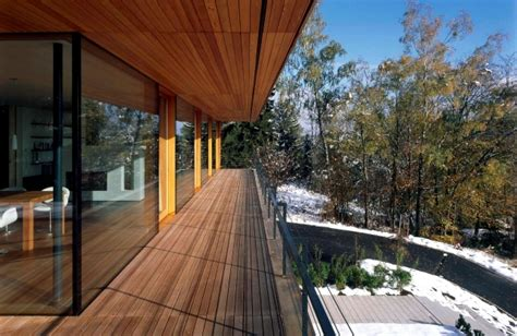 Warm Wall Colors The Wooden Floor And Balcony Appearance And Weather