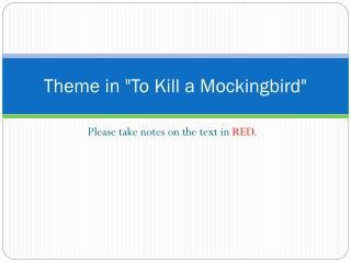 themes in to kill a mockingbird chapter 11 ppt to kill a mockingbird chapter 11 literary devices