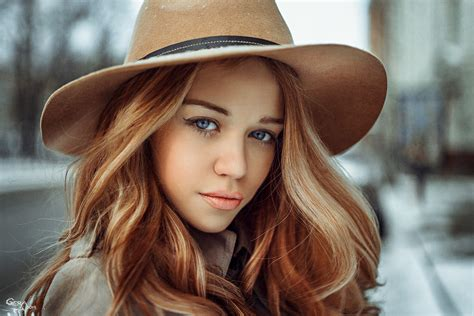 wallpaper girl with hat blue eyed girl in a brown cowboy hat wallpapers and images