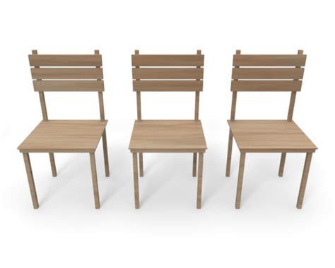 3 chair bench 3 chairs clipart
