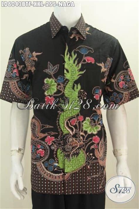 baju kemeja batik pria gemuk produk pakaian batik 3l motif naga dasa hitam proses kombinasi