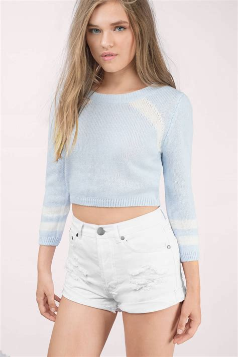 light blue cardigan sweater light blue white sweater blue sweater pull over