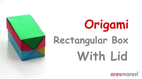 origami rectangular box origami rectangular box with lid easy modular