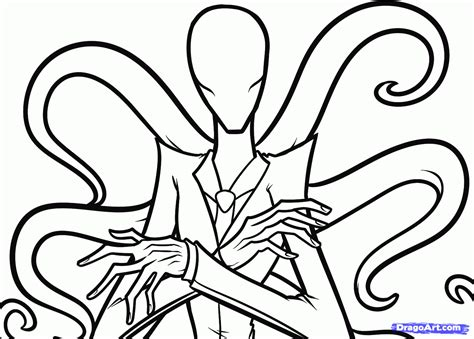 How To Draw Slenderman Slender Man Step By Step Characters Pop Culture Free Online Drawing Drawing For To Color