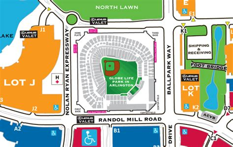 texas rangers parking lot map rangers ballpark in arlington information facts figures 2015 personal