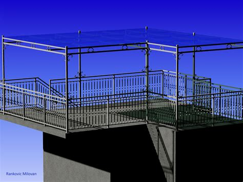 fence awning fence and awning autocad 3d cad model grabcad
