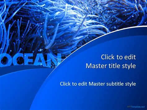 ppt themes sea free blue ocean ppt template