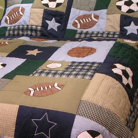 Sports Quilts For Boys by Sports Patch Boys Quilt Townhouse Linens