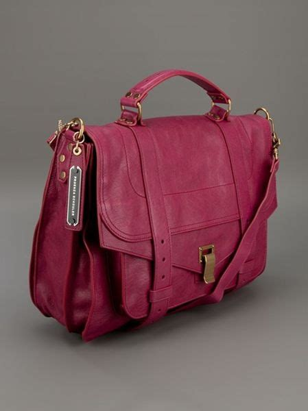 Proenza Pink by Proenza Schouler Ps1 Large Satchel In Pink Lyst