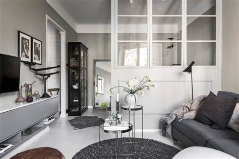 white and gray studio apartment with best plan setting a cozy grey scandinavian studio apartment