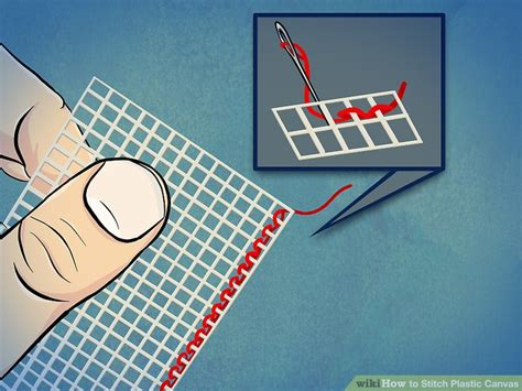 the of cross stitching for beginners step by step guide books 3 ways to stitch plastic canvas wikihow