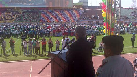 convocatoria juegos plurinacional del nivel secundaria evo el presidente en ejercicio 193 lvaro garc 205 a linera inaugura