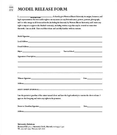 photography model release form template model release form template 8 free sle exle