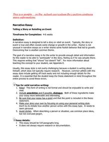 Narrative Essay by Narrative Personal Essay Exles