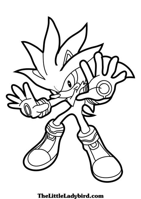 sonic vs silver coloring pages coloring pages