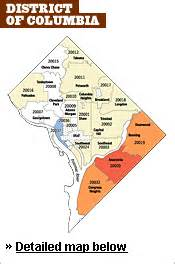 dc zip code map 2007 housing outlook district of columbia property values washingtonpost
