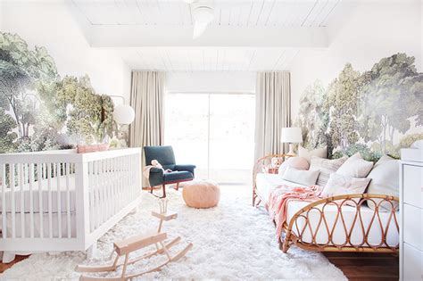 Emily Henderson Nursery Style By Emily Henderson A Baby S Blush And Green